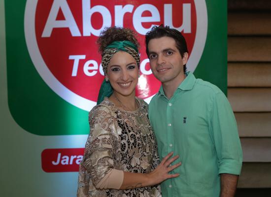 Ticiana e Rodrigo Valente, na inauguração da Abreu Tecidos do Shopping Jaracati (Foto: Eduardo Brandão)