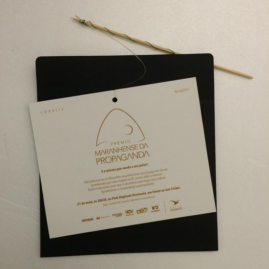 Convite do lançamento do Prêmio Maranhense da Propaganda, promovido pelo Grupo Mirante (Foto: Reprodução)