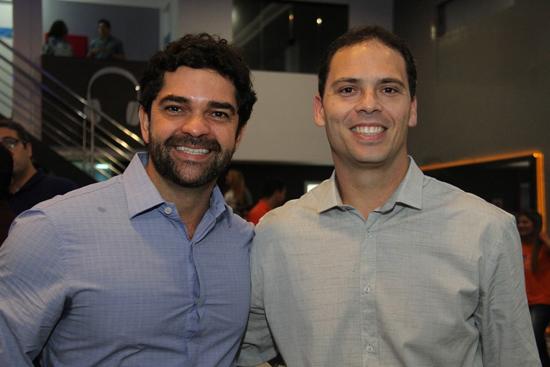 Fred Guerra e o educador físico Gino Longhi, que responde pelo trabalho conceitual da PG.