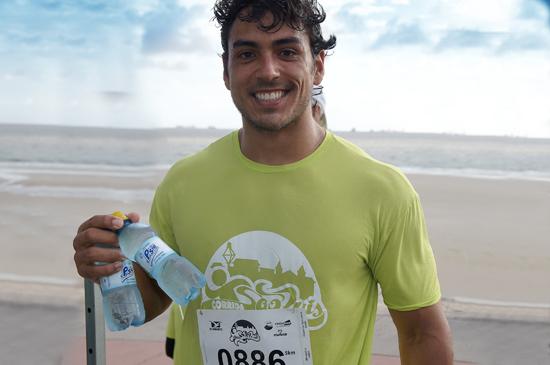 O triatleta Fábio Victor Araújo, na edição 2014 da Corrida São Luís (Foto: Divulgação)