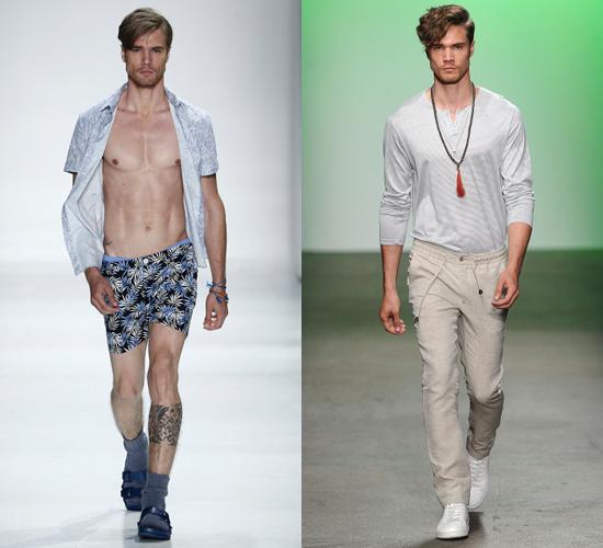 David Martins em dois momentos da New York Fashion Week Men's (Foto/Reprodução)