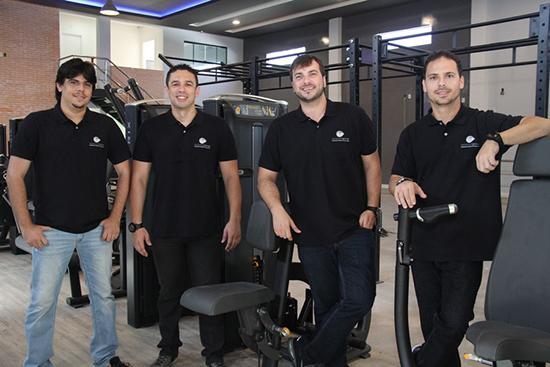 Severino Sales, Daniel Araújo, Rodolfo Almeida e Gino Longhi, sócios da Personal Group (Foto: Danielle Vieira)