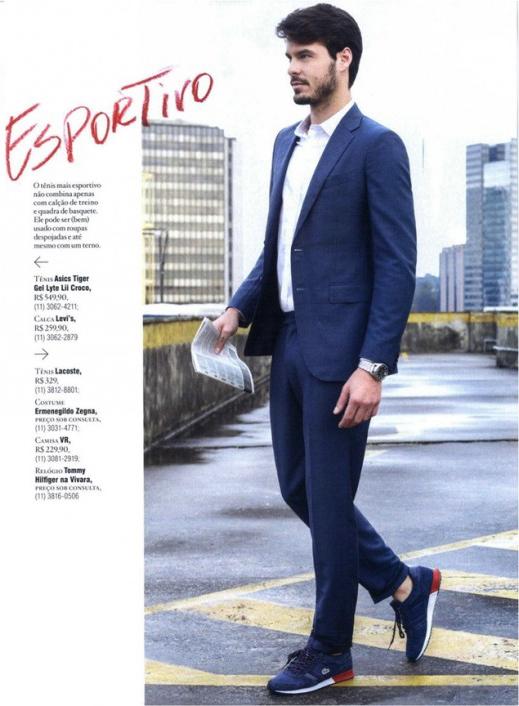 Igor Monteiro na seção Estilo da revista Playboy de julho/15 (Foto/Reprodução: Vitor Pickersgill)