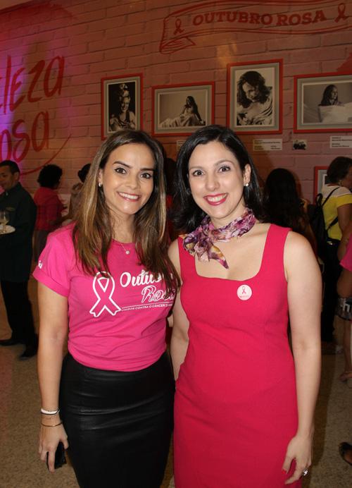 Rafaela Albuquerque e Rachel Cossetti, médica do Aldenora Bello.