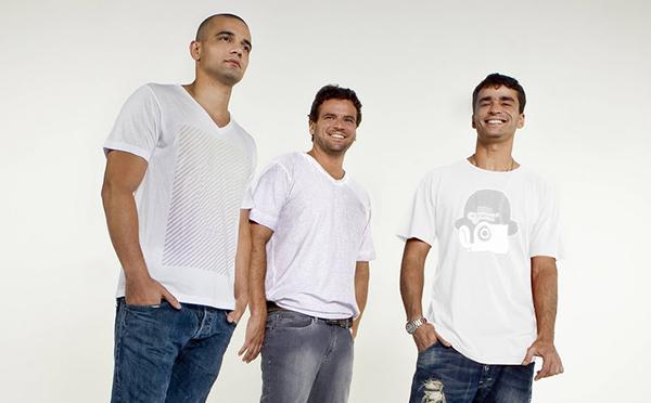 DJs Fabrício Peçanha, Rodrigo Parcionik e Leozinho, que foram o grupo Life is a Loop (Foto?Reprodução)