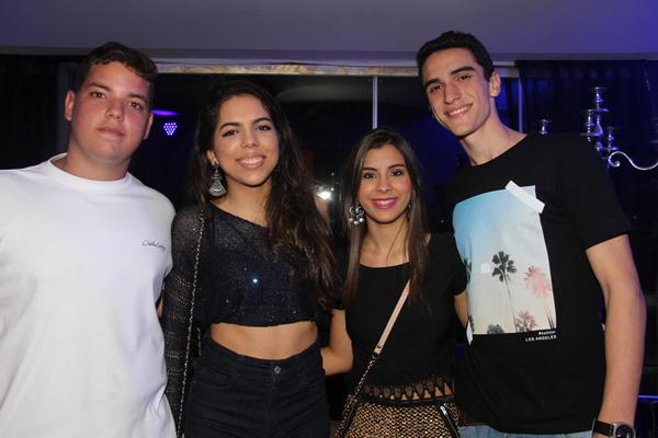 João Matheus, Valentina Lima, Bia Sabóia e Raul Campos
