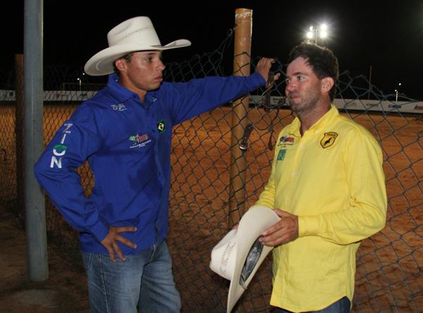 Sidney Junior e Lincoln Gimenez, dupla que ficou em 1ª lugar, com 18.5 segundos (Foto/Divulgação: Marcela Simplício)