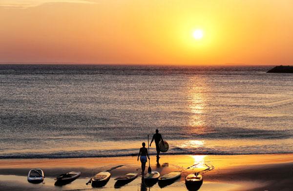 Por do sol da Península da Ponta D'areia servirá de painel de fundo para o sunset QG party (Foto/Ilustração: Marcus Studio)