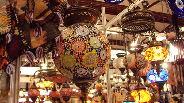Ilustração de luminárias turcas (Foto/Reprodução)