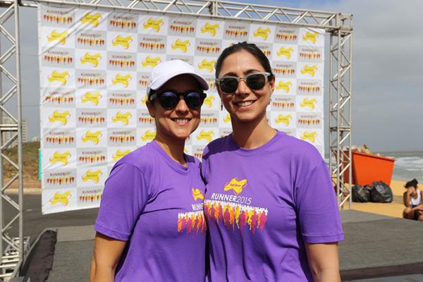 Raíssa Murad e Isabella Rodrigues, diretoras do Dom Bosco, na edição passada da DB Runner (Foto/Divulgação: Danielle Vieira)