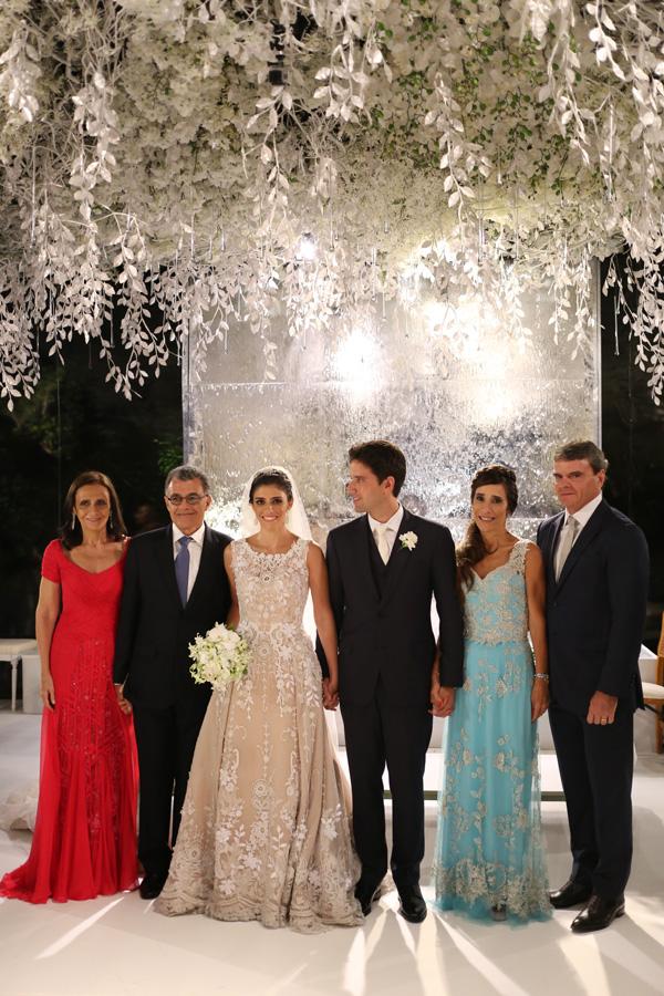 Ana Theresa e Felipe entre os respectivos pais, Tereza e Fernando Sarney e Beth e Antonio José Carvalho