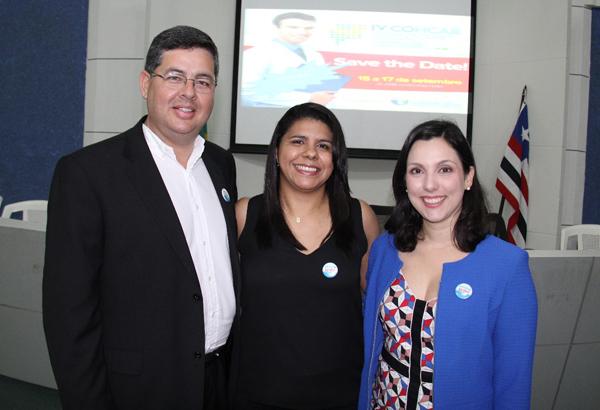 Antonio Dino Tavares , Glaucia Cordeiro e Rachel Cossetti, que estão à frente do Cohcab (Foto/Divulgação: Marcela Simplício)