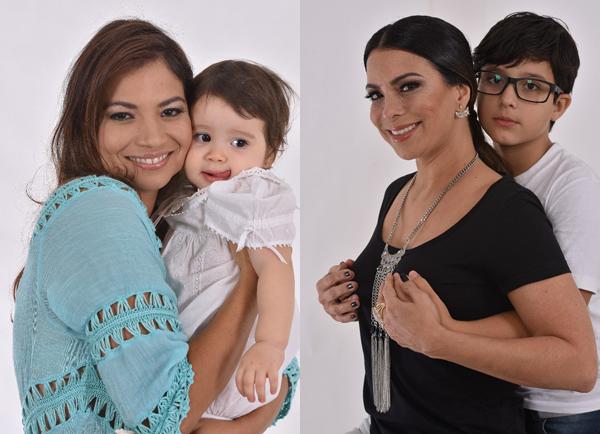 As cantoras Flávia Bittencourt e Fabrícia  - ambas, com os filhos  nas fotos - são algumas das personalidades fotografadas para a edição 2017 do Calendário Preciore (Foto/Reprodução: Meirelles Jr)