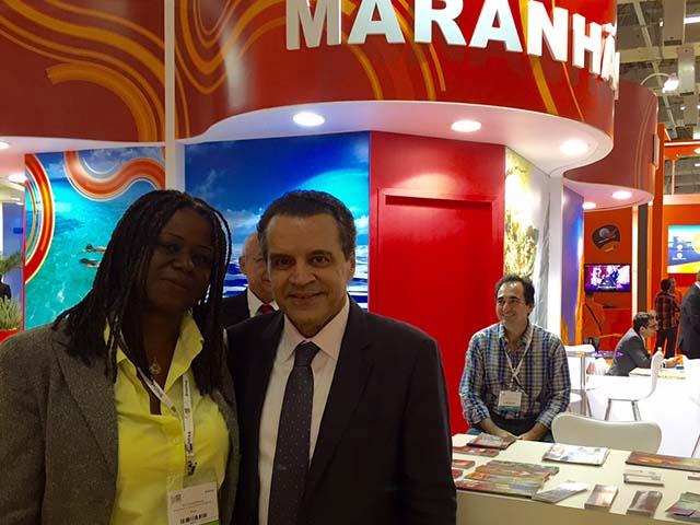 Secretaria de Turismo do Maranhão, Delma Andrade, e o Ministro do Turismo, Henrique Alves. Foto: Antônio Maciel - Setur.