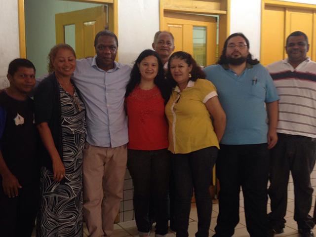 Comungando com o Corpo Docente do CE Anexo Jardim São Cristóvão.