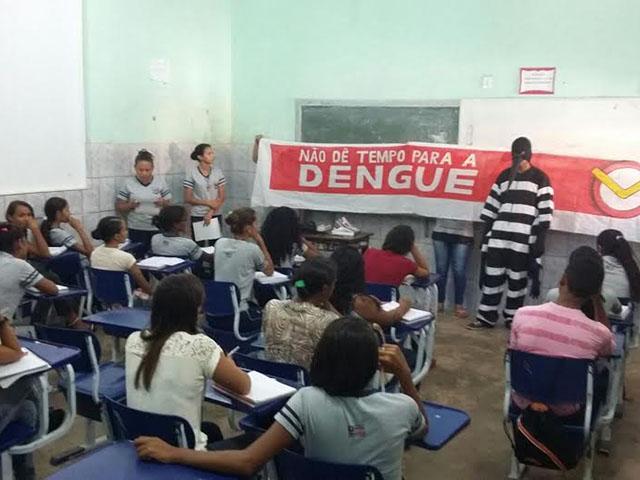 Escola Pública no combate ao mosquito Aedes Aegypti. Foto: Divulgação