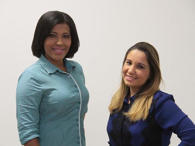 Jornalistas Liliane Araújo e Cintia Araújo. Foto: Biaman Prado