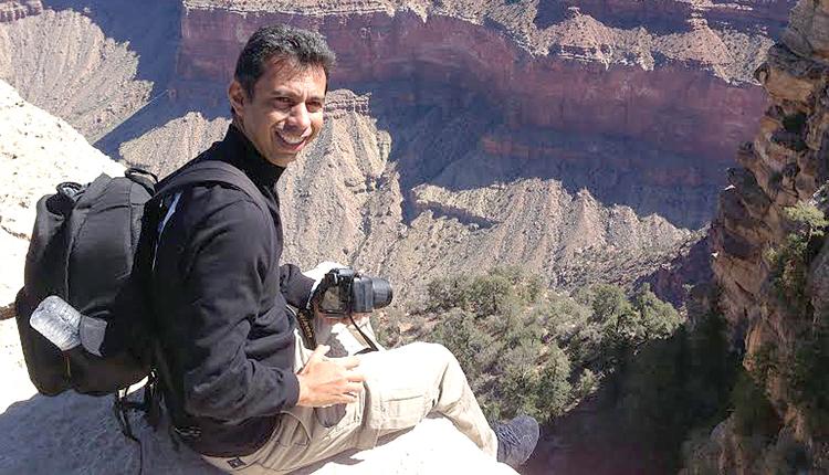 Fotógrago maranhense Meireles Júnior no Grand Canyon. Foto: Divulgação