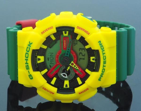 casio g shock reggae styles colors watch