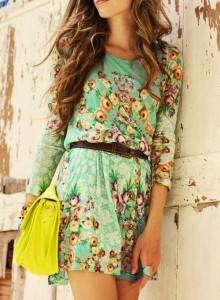 Modelo de vestido estampa tropical - verão 2014 FASHION GOOD 7
