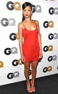Rihanna-Red-Calvin-Klein-Slip-Dress