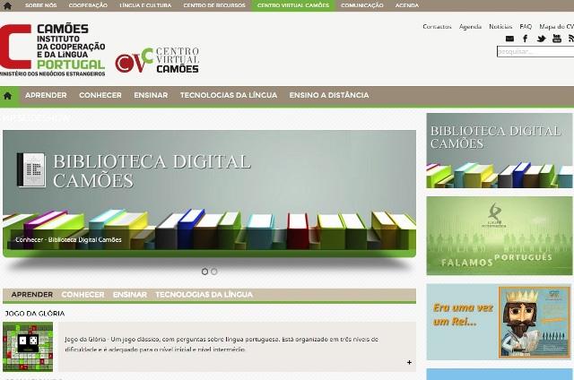 Capa do Portal Camães