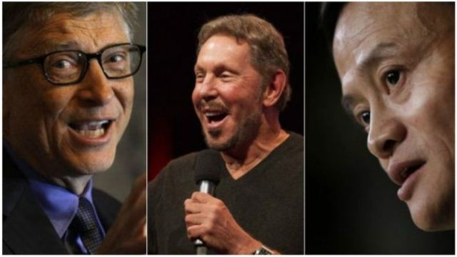 Foto 0 - Bill Gates (Microsoft), Larry Ellison (Oracle) e Jack Ma (Alibaba)