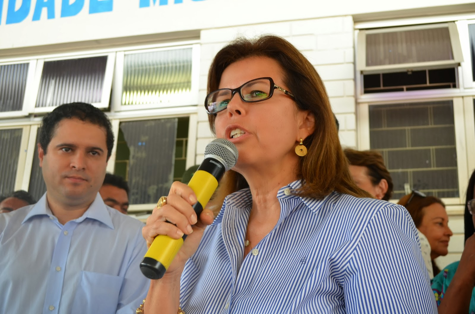 Secretária Helena Duailibe ao lado do prefeito Edivaldo Holanda JR