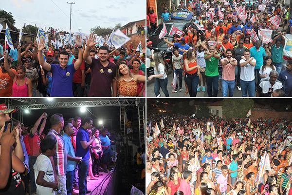 Deputadado estadual Glalbert Cutrim fez campanha em municípios de Brejo de Areia, São João do Caru e São Luís.