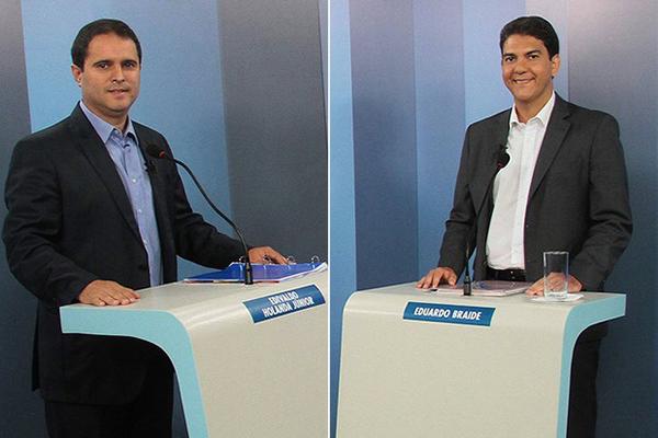 Candidatos Edivaldo Holanda Júnior (PDT) e Eduardo Braide (PMN) votam na manhã deste domingo em São Luís
