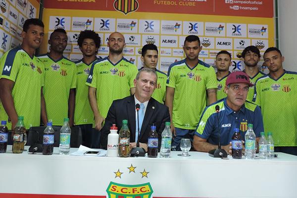 Presidente Sérgio Frota confirmou o técnico Vinícius Saldanha para 2017